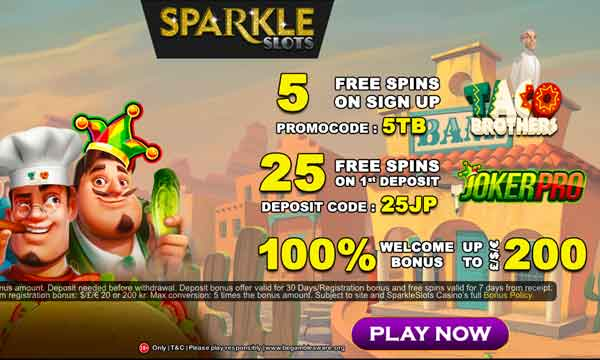 sparkle slots casino bonus