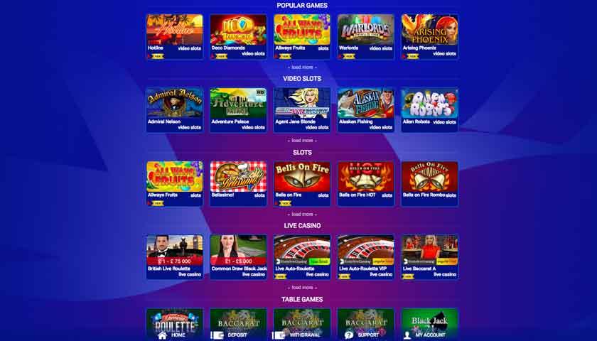 all british casino screen shot