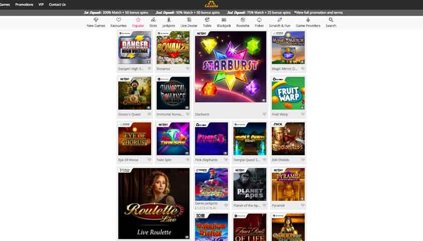 casimba casino slots games