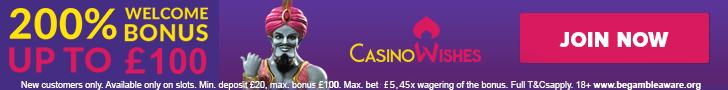 casino wishes bonus banner
