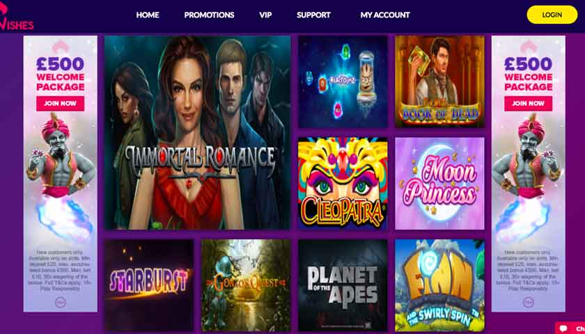 casino wishes screen shot