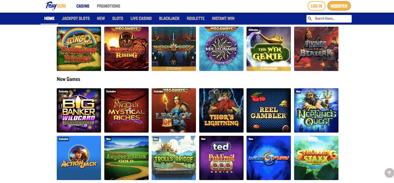 click to visit foxy casino