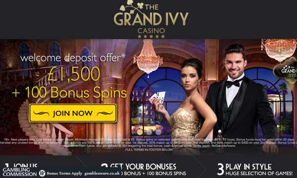 grand ivy casino welcome bonus