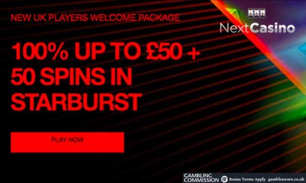 next casino 50 free spins bonus