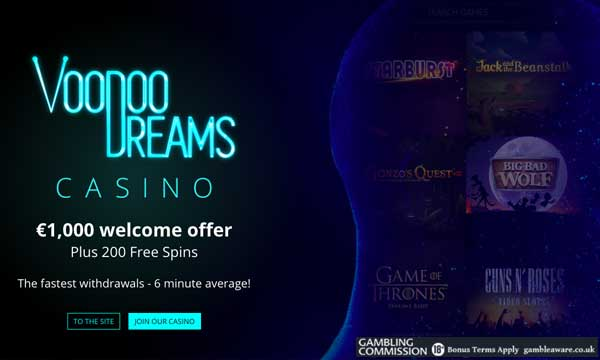 voodoo dreams 200 free spins casino bonus