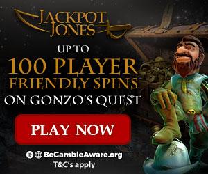 jackpot jones 100 free spins