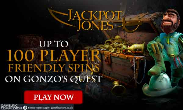 jackpot jones 100 free spins welcome bonus