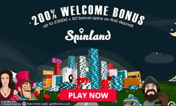 spinland 50 free spins casino bonus