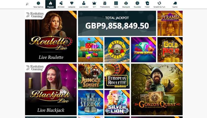 spinland games screen shot