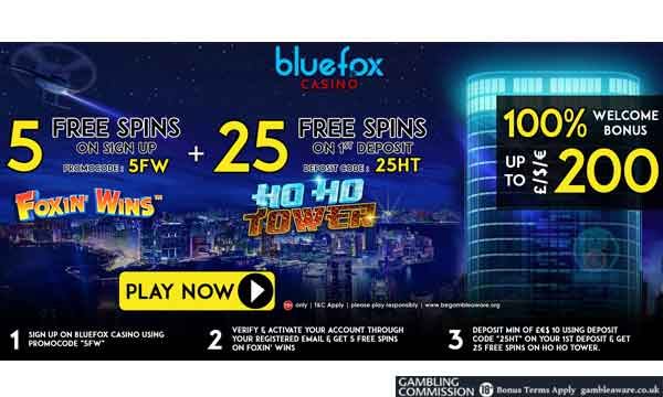 blue fox casino bonus