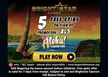 brightstar casino no deposit bonus