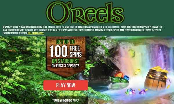 oreels casino low wager bonus
