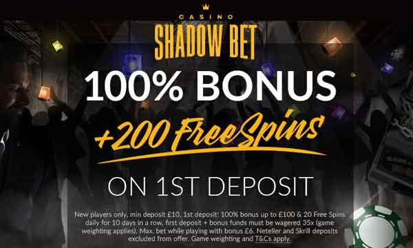 shadowbet casino bonus
