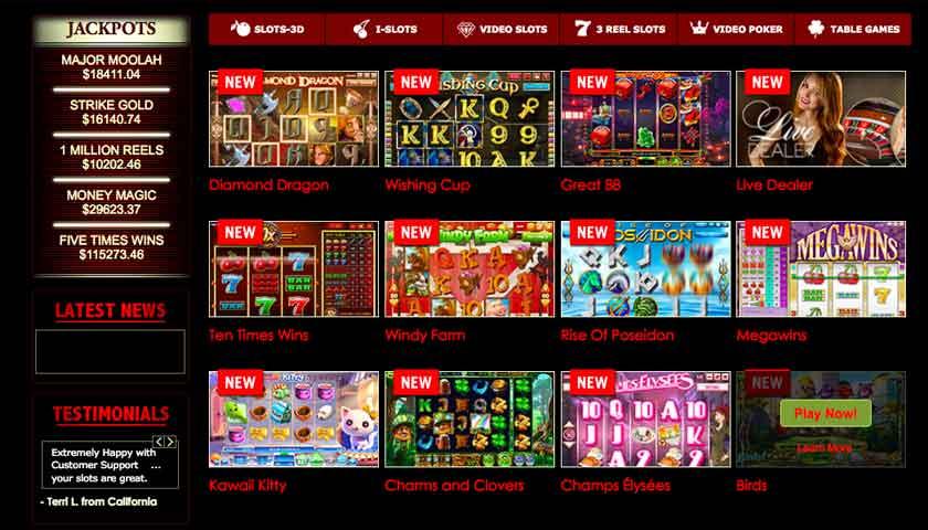 superior casino games screen shot