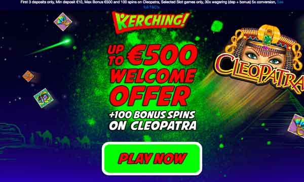 kerching casino bonus