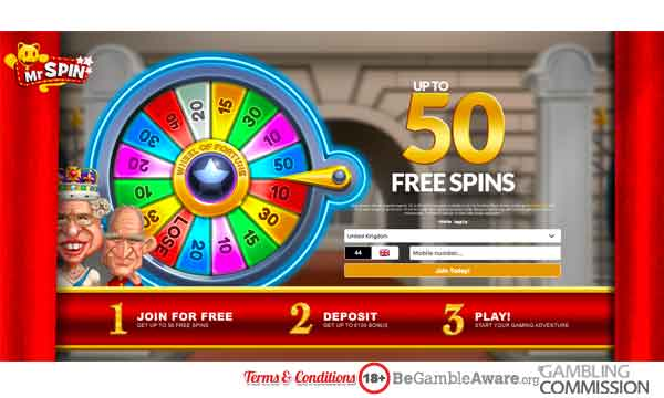 Mr Spin Casino Bonus: Claim Up to 50 Free Spins No Deposit