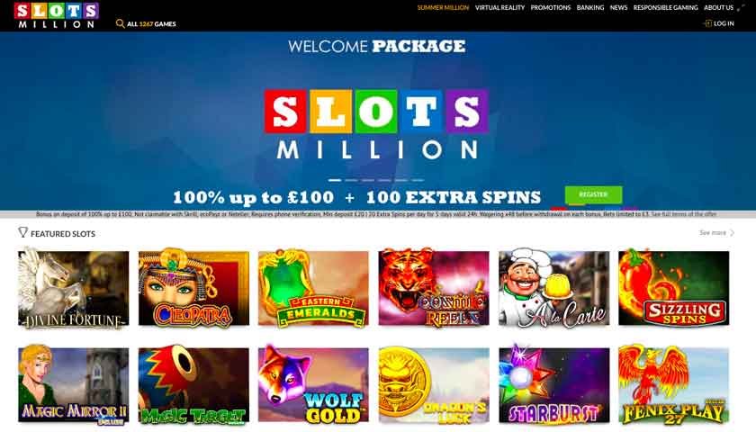 Play At Slots Million Now