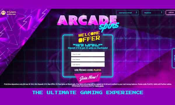 arcade spins casino bonus