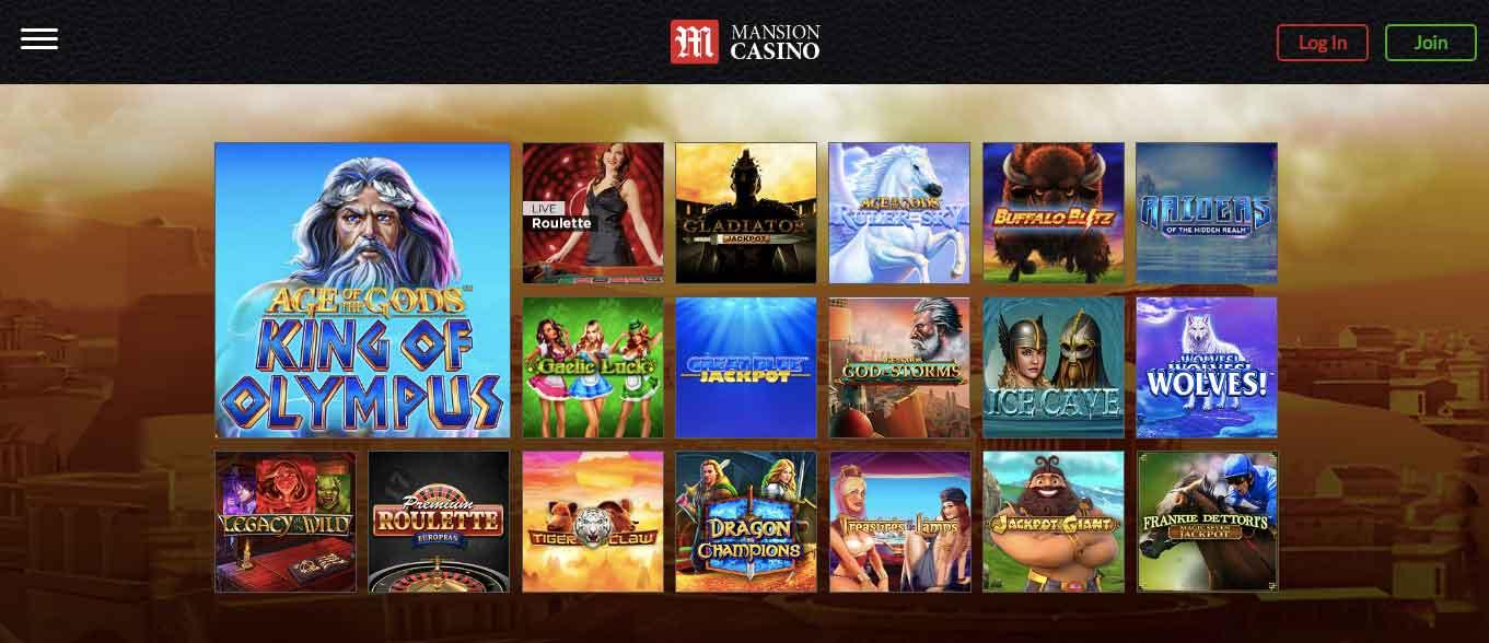 Mansion Casino No Deposit Bonus Code