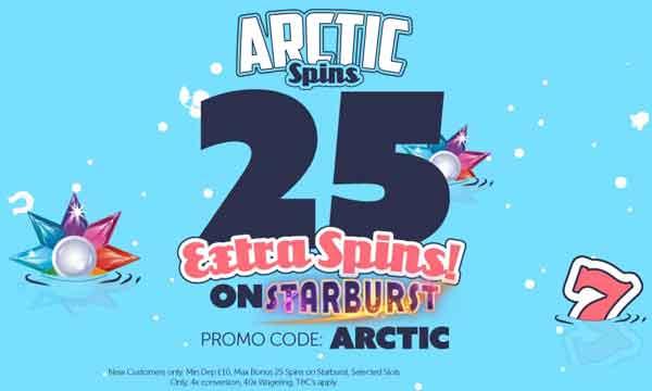 arctic spins casino bonus