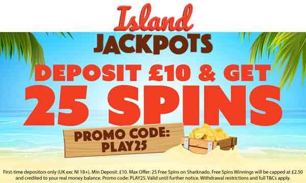 island jackpots casino bonus