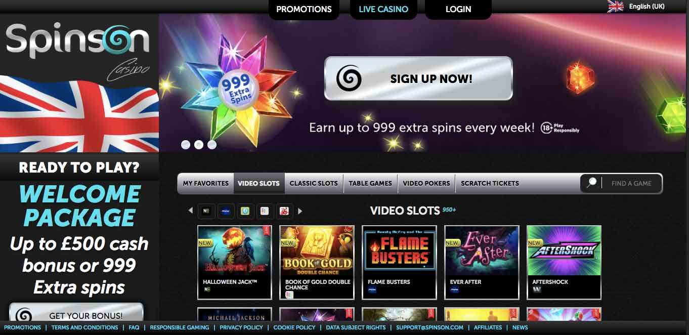click to play at spinson casino today