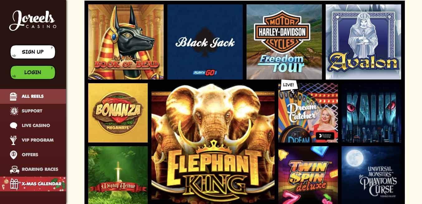 click to visit joreels casino