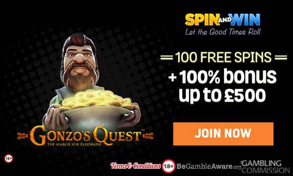 spin and win casino bonus