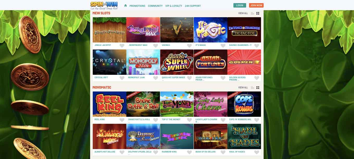 click to visit spin and win casino