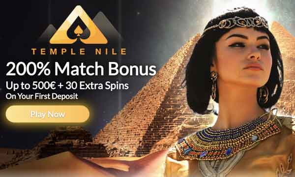 temple nile 200 casino bonus