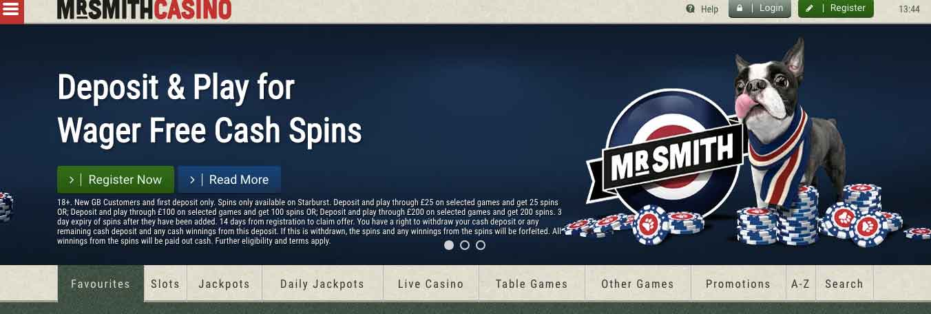 click to visit mr smith casino