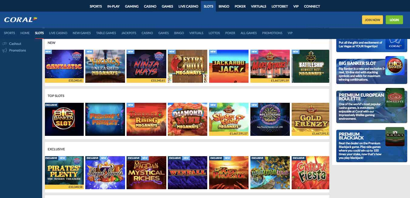 click to play at coral casino