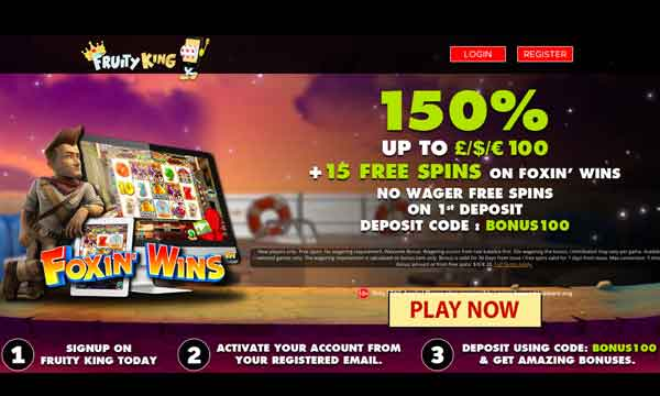 fruity king casino bonus