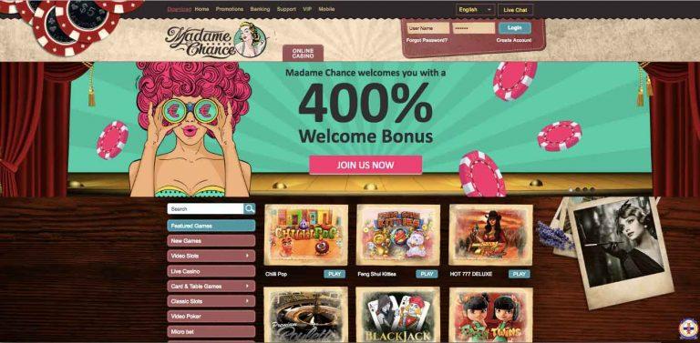 официальный сайт казино мадам шанс бездепозитный бонус