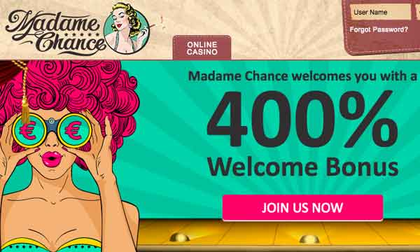 madame chance casino bonus