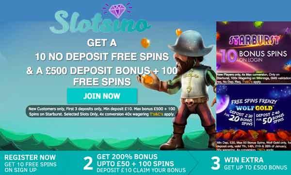 slotsino casino bonus