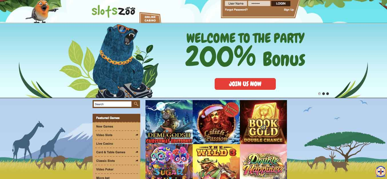 click to visit slotszoo casino