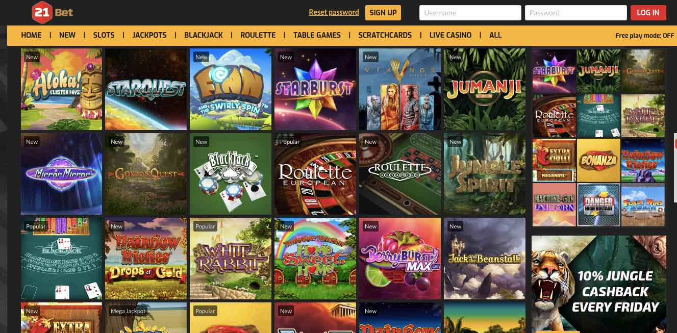 click to play at 21bet casino