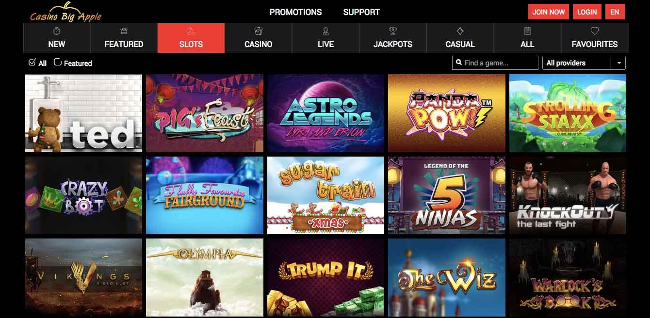click tp play at casino big apple