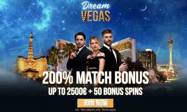 dream vegas 200 deposit bonus