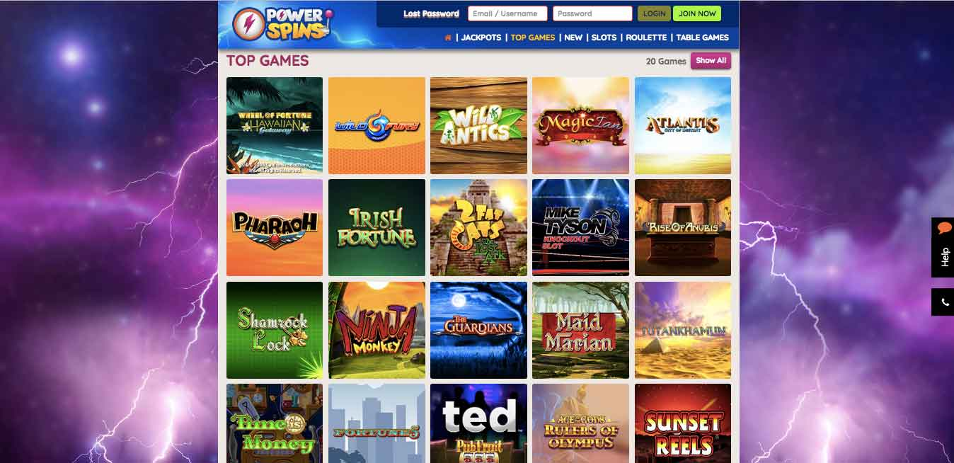 click to play at powerspins casino