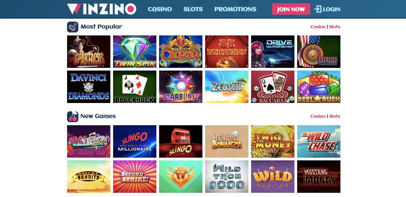 click to play at winzino casino