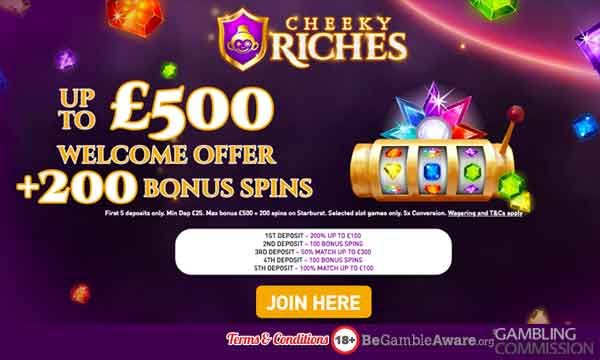 cheeky riches casino bonus