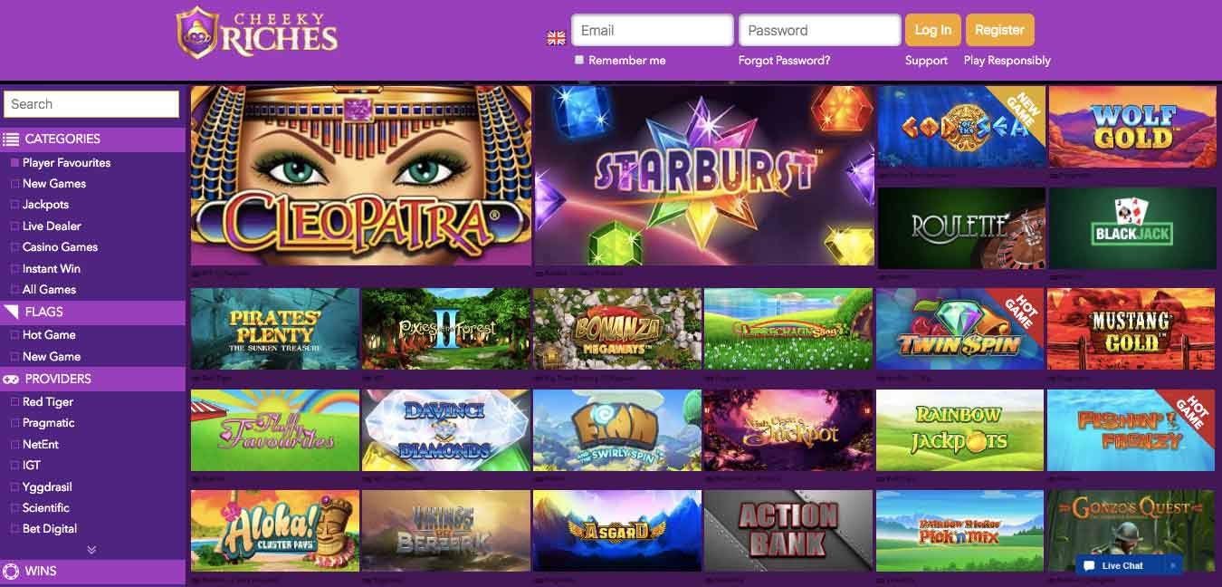 click to visit cheeky riches casino