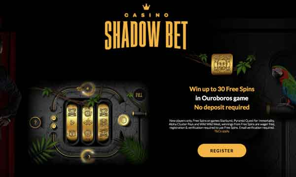 shadowbet 30 free spins no wagering