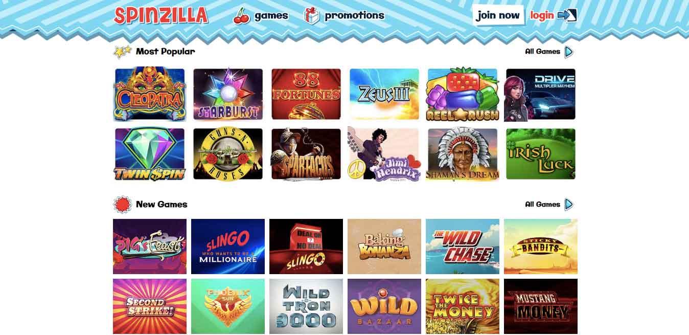 click to play at spinzilla today