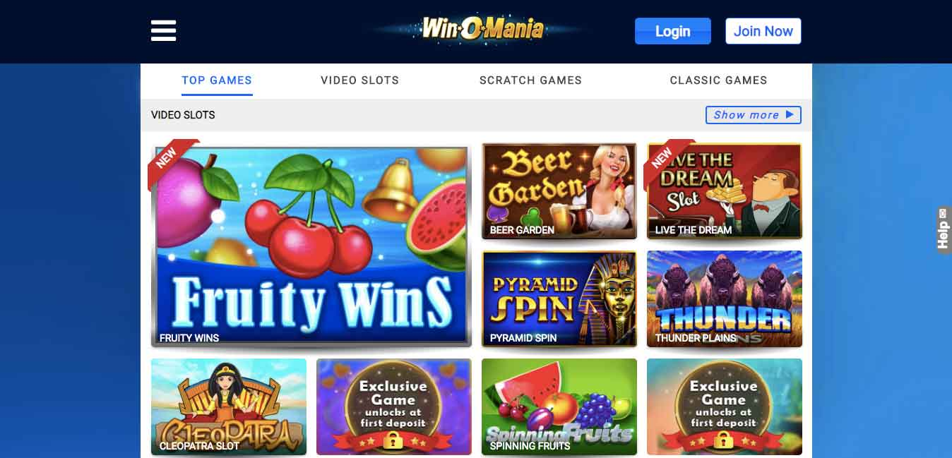 play at winomania casino