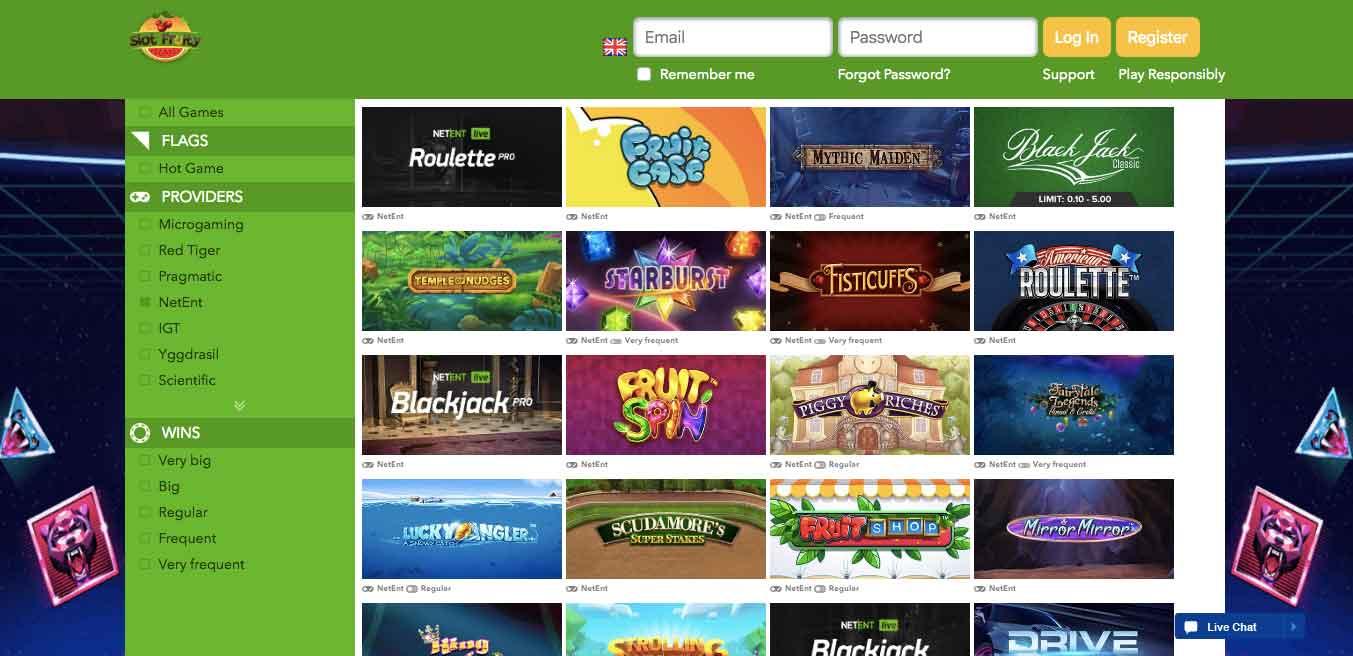 slot fruity games list