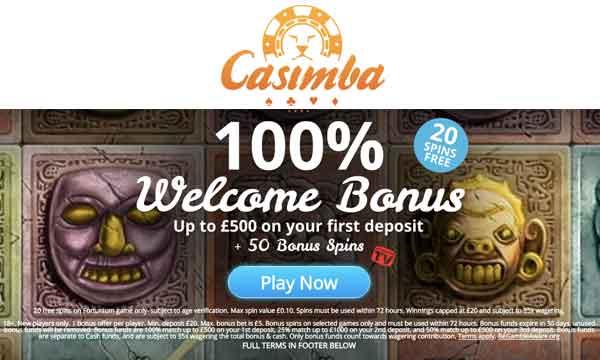 casimba no deposit bonus