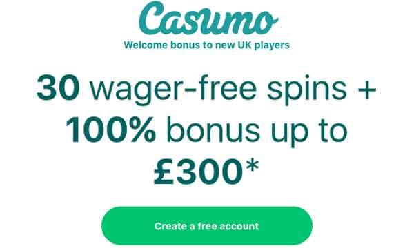 casumo no deposit no wager bonus